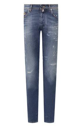 Мужские джинсы VILEBREQUIN синего цвета, арт. VBMP0001-00583-W3 | Фото 1