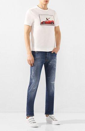 Мужские джинсы VILEBREQUIN синего цвета, арт. VBMP0001-00583-W3 | Фото 2