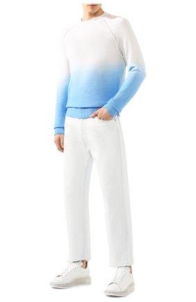 Мужской свитер из смеси шерсти и кашемира ALANUI синего цвета, арт. LMHE006S20001038 | Фото 2