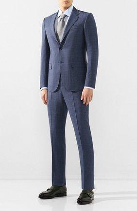Мужская хлопковая сорочка BRIONI светло-голубого цвета, арт. RCLU36/PZ005 | Фото 2