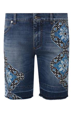Мужские джинсовые шорты DOLCE & GABBANA синего цвета, арт. GY71LD/G8CI4   Фото 1