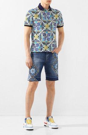 Мужские джинсовые шорты DOLCE & GABBANA синего цвета, арт. GY71LD/G8CI4   Фото 2