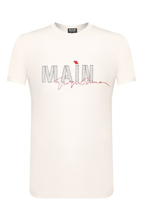 Мужская футболка из вискозы GIORGIO ARMANI белого цвета, арт. 3HST80/SJP4Z   Фото 1 (Мужское Кросс-КТ: Футболка-одежда; Рукава: Короткие; Материал внешний: Вискоза; Принт: С принтом; Длина (для топов): Стандартные; Стили: Кэжуэл)