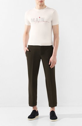 Мужская футболка из вискозы GIORGIO ARMANI белого цвета, арт. 3HST80/SJP4Z   Фото 2 (Мужское Кросс-КТ: Футболка-одежда; Рукава: Короткие; Материал внешний: Вискоза; Принт: С принтом; Длина (для топов): Стандартные; Стили: Кэжуэл)