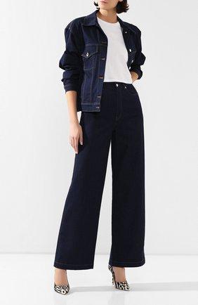 Женские джинсы DOLCE & GABBANA темно-синего цвета, арт. FTB0KD/G899X | Фото 2