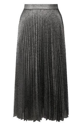 Женская плиссированная юбка CHRISTOPHER KANE серебряного цвета, арт. CFW SK927 LAME MESH | Фото 1