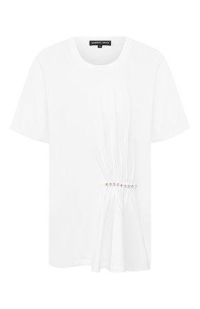 Женская хлопковая футболка MARKUS LUPFER белого цвета, арт. TEE353 | Фото 1