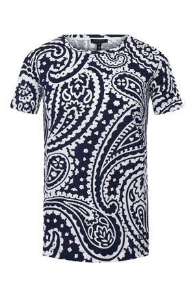 Женская хлопковая футболка ESCADA темно-синего цвета, арт. 5032815   Фото 1