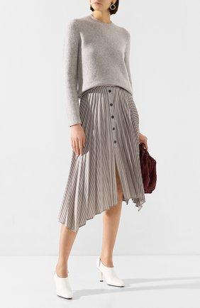 Женская свитер из смеси кашемира и шелка GABRIELA HEARST серого цвета, арт. 320941 A021 | Фото 2