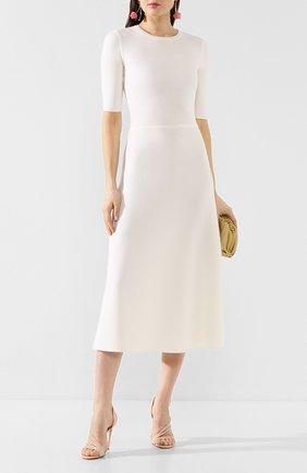 Женское платье из смеси шерсти и кашемира GABRIELA HEARST белого цвета, арт. 320917 A004 | Фото 2