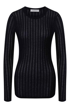 Женская пуловер из смеси кашемира и шелка GABRIELA HEARST темно-синего цвета, арт. 320906 A003 | Фото 1