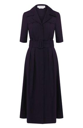 Женское платье из смеси шелка и кашемира GABRIELA HEARST темно-синего цвета, арт. 320425 S022 | Фото 1