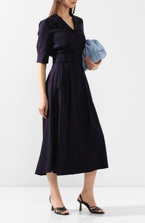 Женское платье из смеси шелка и кашемира GABRIELA HEARST темно-синего цвета, арт. 320425 S022 | Фото 2