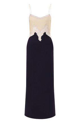 Женское платье из смеси шелка и кашемира GABRIELA HEARST темно-синего цвета, арт. 320405 S022 | Фото 1