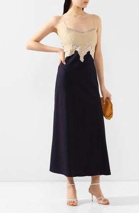 Женское платье из смеси шелка и кашемира GABRIELA HEARST темно-синего цвета, арт. 320405 S022 | Фото 2