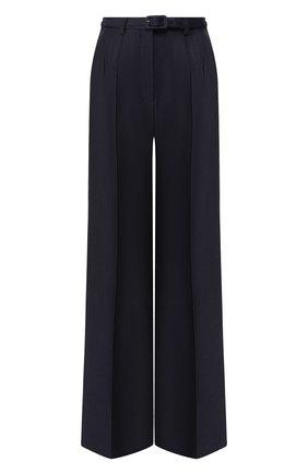 Женские брюки из смеси шерсти и шелка GABRIELA HEARST темно-синего цвета, арт. 320201 W024 | Фото 1