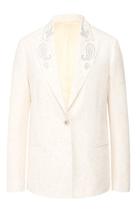 Женский жакет GOLDEN GOOSE DELUXE BRAND белого цвета, арт. G36WP063.A1 | Фото 1