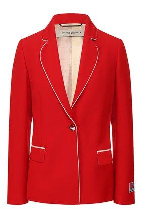 Женский жакет GOLDEN GOOSE DELUXE BRAND красного цвета, арт. G36WP060.A2 | Фото 1