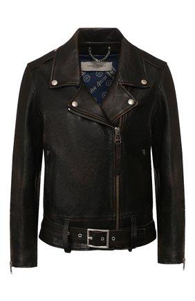 Женская кожаная куртка GOLDEN GOOSE DELUXE BRAND черного цвета, арт. G36WP036.A4 | Фото 1