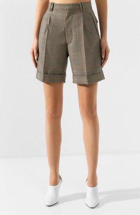 Женские шорты MAISON MARGIELA коричневого цвета, арт. S51MU0051/S52581 | Фото 3