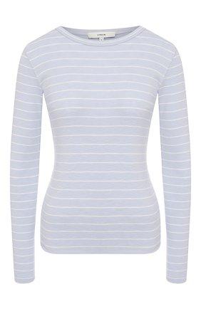 Женская пуловер в полоску VINCE голубого цвета, арт. V646283452 | Фото 1