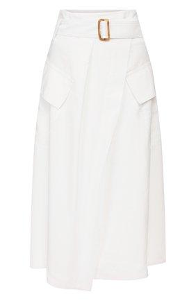 Женская юбка из вискозы VINCE белого цвета, арт. V654630599 | Фото 1