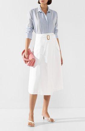 Женская юбка из вискозы VINCE белого цвета, арт. V654630599 | Фото 2