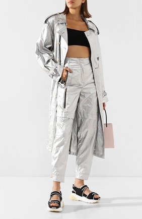 Женские брюки PHILOSOPHY DI LORENZO SERAFINI серебряного цвета, арт. A0303/741 | Фото 2