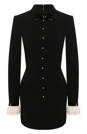 Женское платье из вискозы PHILOSOPHY DI LORENZO SERAFINI черного цвета, арт. V0407/722 | Фото 1