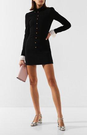 Женское платье из вискозы PHILOSOPHY DI LORENZO SERAFINI черного цвета, арт. V0407/722 | Фото 2