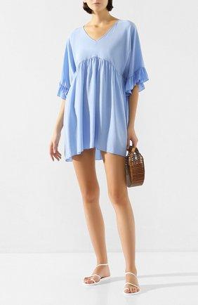 Женское шелковое платье FISICO голубого цвета, арт. P0/F/FV29H0 | Фото 2