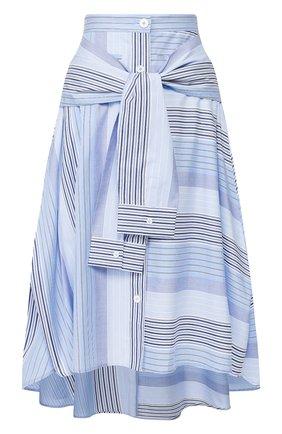 Женская хлопковая юбка STEVE J & YONI P синего цвета, арт. PW2A1W-SC010W | Фото 1