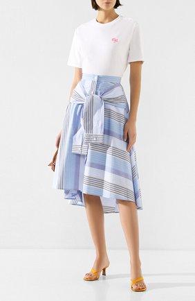 Женская хлопковая юбка STEVE J & YONI P синего цвета, арт. PW2A1W-SC010W | Фото 2