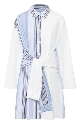 Женское хлопковое платье STEVE J & YONI P синего цвета, арт. PW2A1W-0P030W   Фото 1