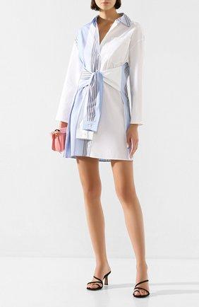 Женское хлопковое платье STEVE J & YONI P синего цвета, арт. PW2A1W-0P030W   Фото 2