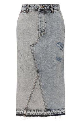 Женская джинсовая юбка STEVE J & YONI P синего цвета, арт. PW2A1N-SC049W   Фото 1