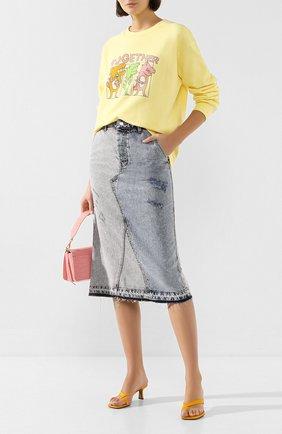 Женская джинсовая юбка STEVE J & YONI P синего цвета, арт. PW2A1N-SC049W   Фото 2