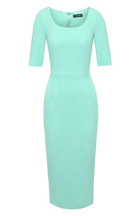 Женское платье DOLCE & GABBANA бирюзового цвета, арт. F6H4PT/FURDV | Фото 1