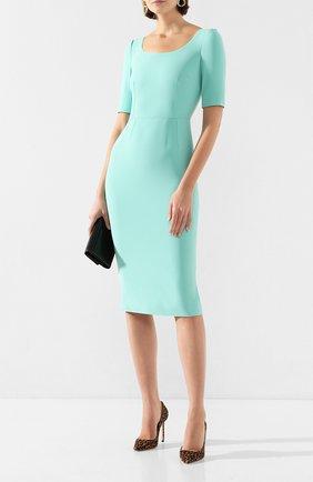 Женское платье DOLCE & GABBANA бирюзового цвета, арт. F6H4PT/FURDV | Фото 2