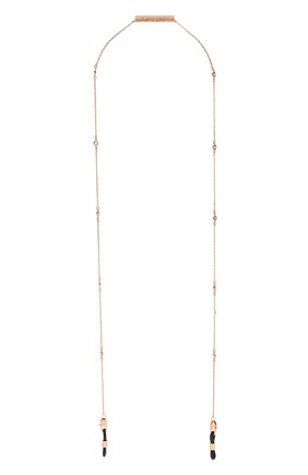 Женские цепочка для очков FRAME CHAIN розового цвета, арт. SHINE BRIGHT R0SE   Фото 1 (Тип очков: Цепочка)