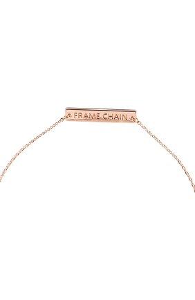 Женские цепочка для очков FRAME CHAIN розового цвета, арт. SHINE BRIGHT R0SE   Фото 3 (Тип очков: Цепочка)