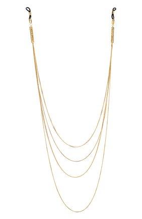Женские цепочка для очков FRAME CHAIN золотого цвета, арт. AIN`T S0 PLANE JANE | Фото 1