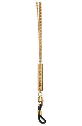 Женские цепочка для очков FRAME CHAIN золотого цвета, арт. AIN`T S0 PLANE JANE | Фото 2