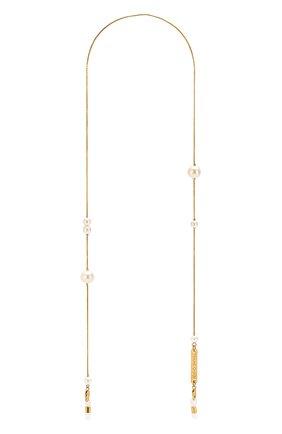 Женские цепочка для очков FRAME CHAIN золотого цвета, арт. DR0P PEARL YELL0W | Фото 1