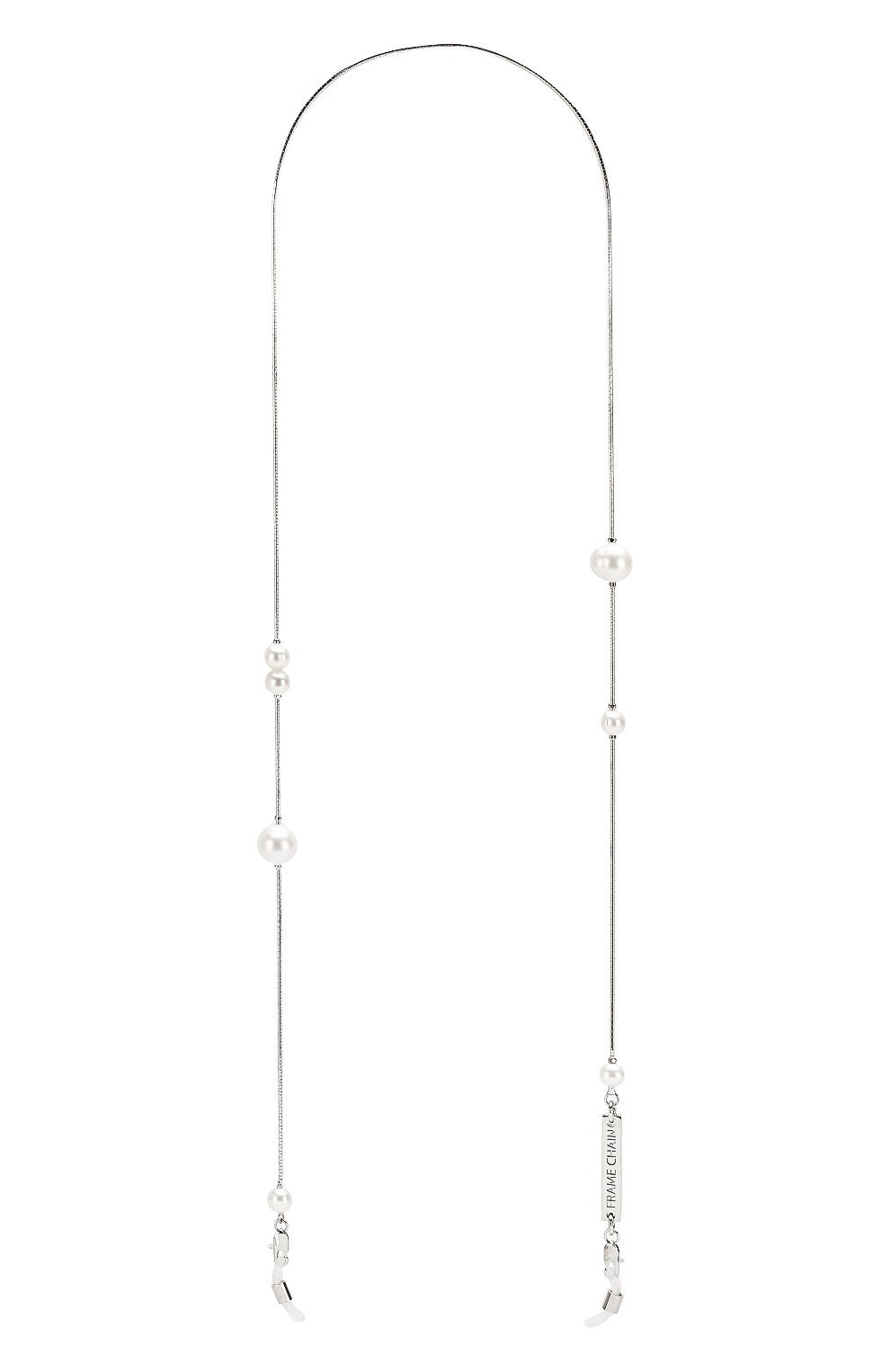 Женские цепочка для очков FRAME CHAIN серебряного цвета, арт. DR0P PEARL WHITE | Фото 1