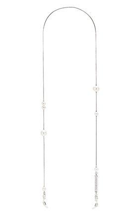 Мужские цепочка для очков FRAME CHAIN серебряного цвета, арт. DR0P PEARL WHITE | Фото 1