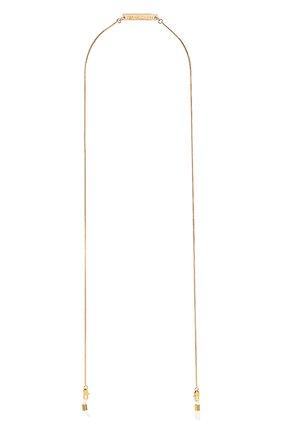 Мужские цепочка для очков FRAME CHAIN золотого цвета, арт. SLINKY YELL0W | Фото 1