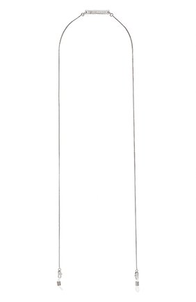 Мужские цепочка для очков FRAME CHAIN серебряного цвета, арт. SLINKY WHITE | Фото 1