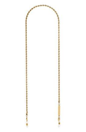 Женские цепочка для очков FRAME CHAIN золотого цвета, арт. R0LLER CHAIN YELL0W | Фото 1