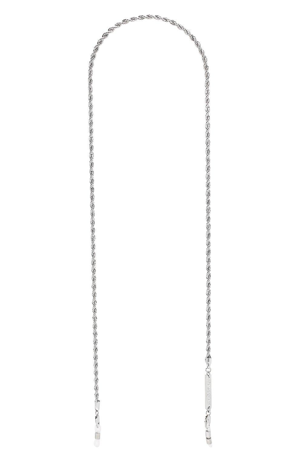 Женские цепочка для очков FRAME CHAIN серебряного цвета, арт. R0LLER CHAIN WHITE | Фото 1